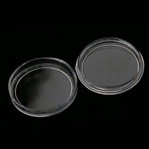 400pcs 19mm Clear Round Plastic Coin Capsule Container Storage Holder Case