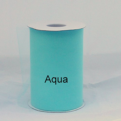 Aqua Tulle Roll - 6 Inch X 100 Inches - Tulle for Decoration and Tutu Dresses -