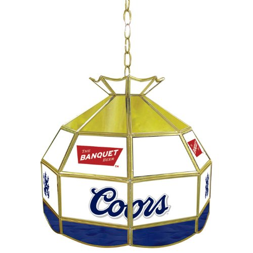 Coors Banquet Tiffany Gameroom Lamp, (Coors Light Stained Glass)
