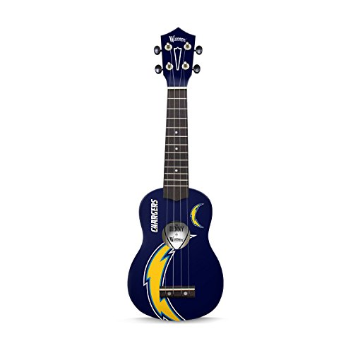 San Diego Chargers Rocks - Woodrow Guitar by The Sports Vault NFL San Diego Chargers Ukulele