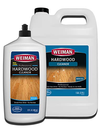 Teak Finish Laminate - Weiman Hardwood Floor Cleaner Gallon and Refillable Squeeze Bottle - Finished Wood Surfaces