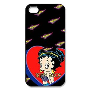 Cute Betty Boop Hard Cover Case for iPhone 5 5s case -BLACK CASE