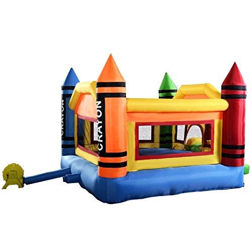 Inflatable Slide Kmart: Costzon Inflatable Crayon Bounce House Castle Jumper