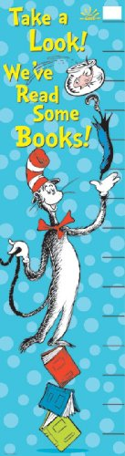Eureka Dr. Seuss Vertical Classroom Banner, Cat in The Hat Reading Goal, 45 x 12 Inches (849665)