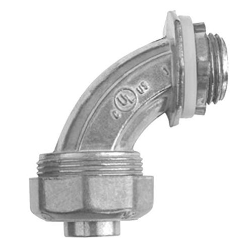 Zinc Diecast Arts (Crouse-Hinds LT20090DC Natural Die Cast Zinc Non-Insulated Liquidtight 90 Degree Connector 2 Inch)