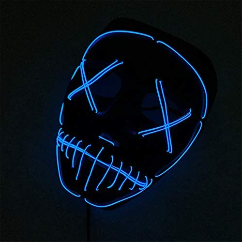 41fvklCFb9L. AC  - ASON Halloween Scary Mask Cosplay Led Costume Mask