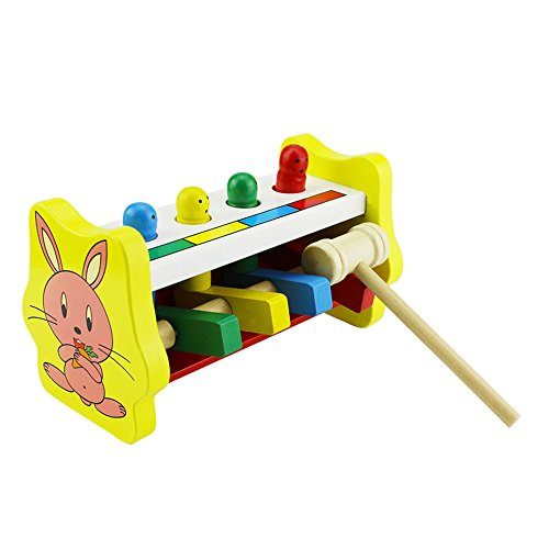 New Arrival Knock Tables Pounding Bench, Striking Preschool Children Piling Beat Hammer Percussion Wooden Educational Toys For 1-12 Years Kids