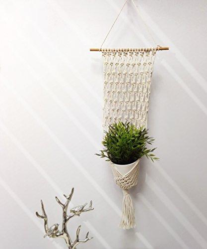 Macrame Handmade Plant Hanger Home Decorative Art, 9'' x 28'' by EG Decor