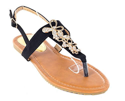 Victoria K Women Camel Open Toes Closed Back Flat Thong Sandals, 6