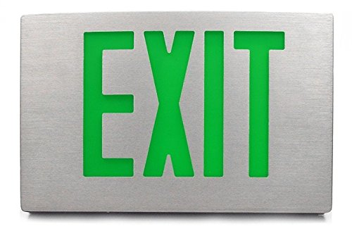 Aluminum Exit Sign with Green Letters