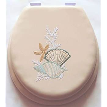 17 Quot Cushioned Toilet Seat With Embroidery Design