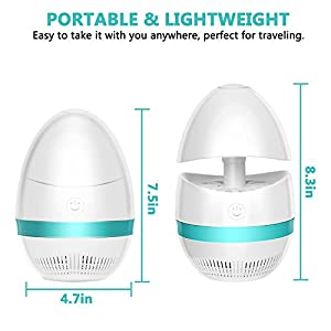 Sunnest Electronic Indoor Bug Zapper, Insect Killer, Mosquito Killer, USB Powered Mosquito Zapper Lamp with Built in Fan Mosquito Catcher Trap for Home Kitchen Restaurant Garden Patio Yard Office