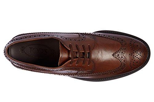 Tod's chaussures à lacets classiques homme en cuir derby esquire marron