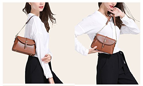 Handbag Leather Chain Handbag White Ladies Summer Wild Flht Stylish New Messenger Bag Bag Leather xwYq1nvIa4