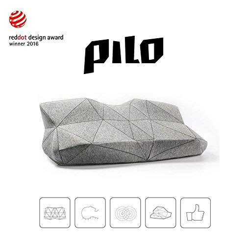 Bamboo Classic Pillow (PILO Classic - Ergonomic Smart Music Pillow, Cervical Contour Neck Pillow for Sleeping Made of Memory Foam, Built-in Binaural Sound Speakers Pillow, Sound Sleep-aid App, Washable Cotton Pillow Case)