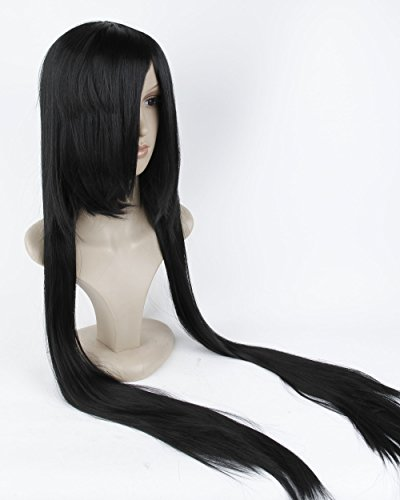 "Cool2day 40"" Long Straight Hair Costume Play Party Full Wig+Wig Cap (Black) JF66"