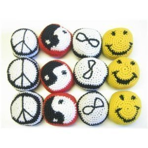 12 Woven Design Hacky Sacks (Receive 12 Per Order) by Jeirles Wholesale by Jeirles Wholesale