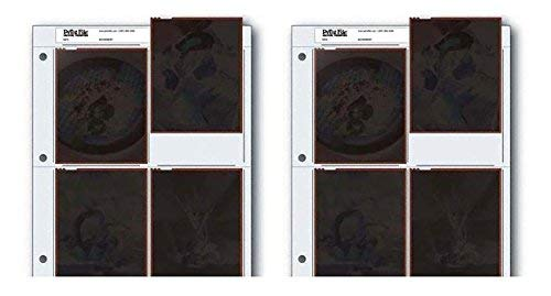 Archival Negative Pages Holds Four 4 x 5 Inches Negatives or Transparencies, Pack of 50