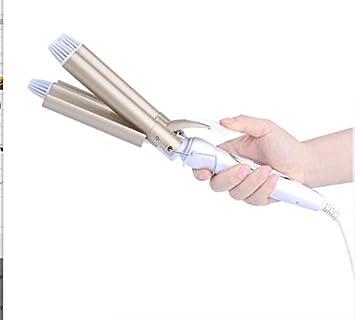 Shuangklei 110-220 V Cabello Moldeador Triple Barril Rizador De Cerámica Moldeadores Moldeador De Cabello Rizador Stying Rizadores De Pelo: Amazon.es: Salud ...