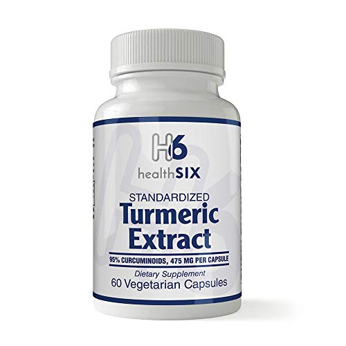 Standardized Tumeric Extract | 95% Curcuminoids | 475 Mg | 60 Veg Capsules 475 Mg 60 Capsules