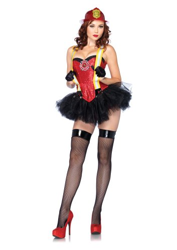 Leg Avenue Costumes 2Pc.Firehouse Hottie Includes Corset and Tutu