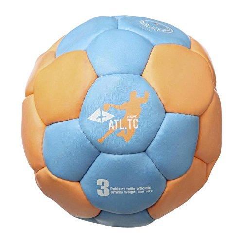 ATHLITECH Ballon de Handball - Taille 3 - Bleu et orange