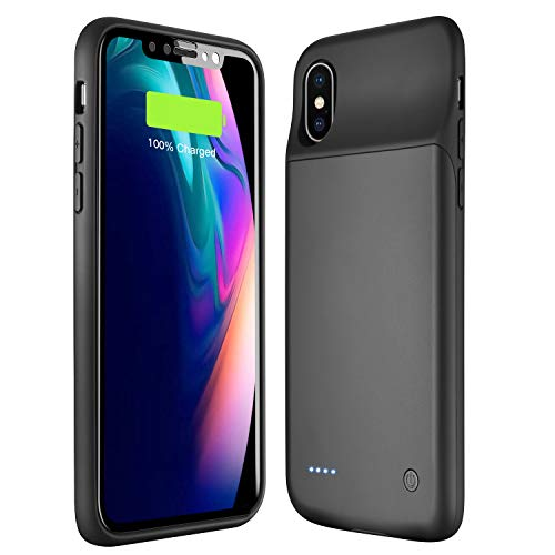 Wixann Battery case for iPhone X/XS/10, 3200mAh Slim Portable Charger Case Protective Rechargeable Battery Pack Charging Case for iPhone X/XS
