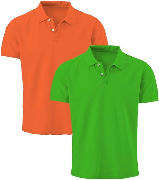 Tex Leaves Polo Shirt Piqué Hombre con Botón 100% Algodón: Amazon.es: Ropa y accesorios