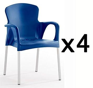 Factoriacentral - Lote de 4 sillones de diseño eva plastico ...
