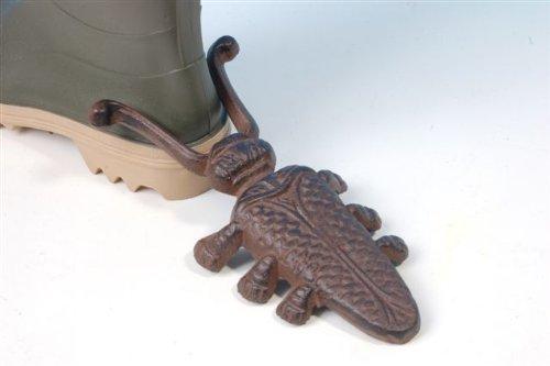 Cast iron beetle boot jack.
