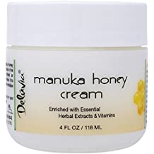 Deluvia Manuka Honey Cream Active 16+ (4oz) Enriched with Manuka Honey & the Most Potent Organic Aloe in the World. Effectively soothes dry, irritated or problem skin.