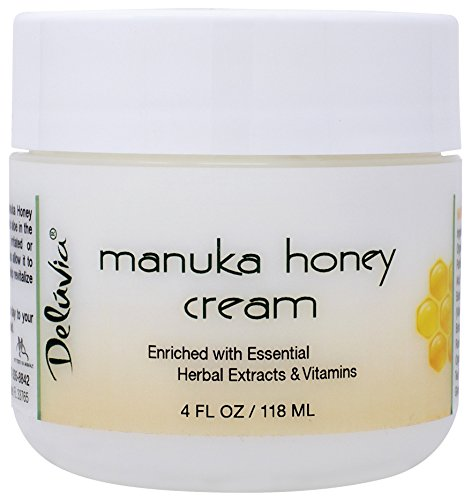 Deluvia Manuka Honey Cream Active 16+ (4oz) Enriched with Manuka Honey & the Most Potent Organic Aloe in the World....