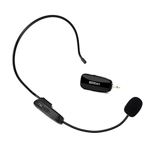 522d44bedba Sherosa 2.4G Wireless Microphone Headset MIC Megaphone Loudspeaker Voice  Amplifier 2 in 1 Handheld Portable