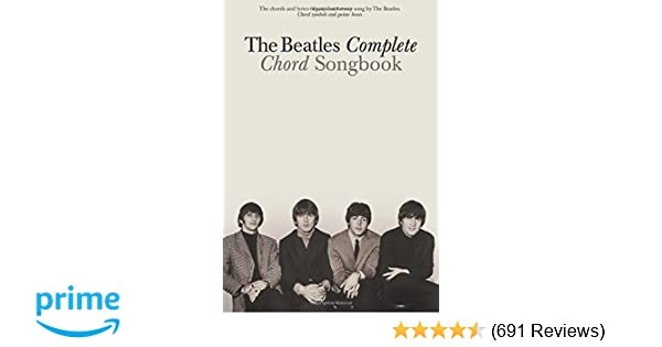 Amazon The Beatles Complete Chord Songbook 0073999063493 The
