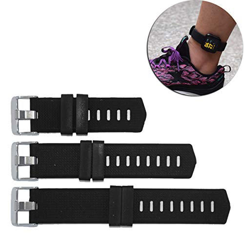 DDJOY Extender Band for Compatible with Fitbit Versa/Charge/Charge HR/Charge 2 Watch Band, Silicone Band Extender for Extra Large Size Wrist or Ankle Wear (Black)