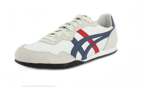 Asics Onitsuka Tiger Serrano Sneakers, 7.5 UK, White/Mallard Blue