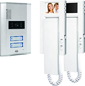 Elro VD62 2-Familien-Videotürsprechanlage mit 2.4 Zoll (5.5 cm) TFT...