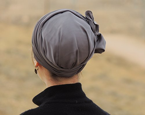Sara Attali Design Tichel Full Hair Covering Lovely Snoods Turban One Size Grey