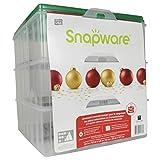 Snapware Snap 'N Stack Contenedor de almacenamiento cuadrado de 3 niveles para adornos de temporada, 13 por 13 pulgadas