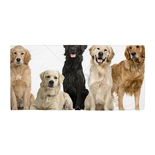 Cafepress   Group Of 5 Golden Retriever And Labrad   Large Beach Towel  Soft 30 X60  Towel With Unique Design