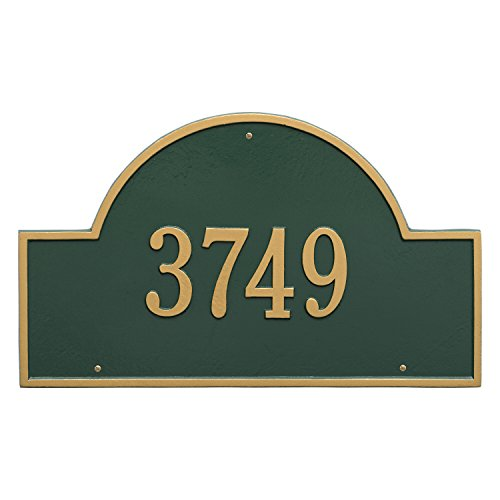 Arch Marker Estate Address Plaques - Whitehall Products Arch Marker Estate Bronze/Gold Wall 1-Line Address Plaque