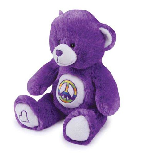 Grriggles Jelly Bean Bear Pet Toy, Purple