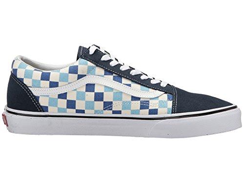 Vans U Old Skool (QCM) (Checkerboard) Blue Topaz/Blue (13 Women/11.5 Men M US) by Vans (Image #7)
