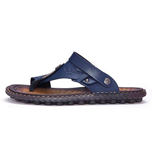 Ybk2668lanse39 Enllerviid Hommes Orteil Anneau Plat Clip Sandale Arrière-sangle Double Usage Sandales De Plage Sandales Chaussuresdark Bleu 7 D (m) Us