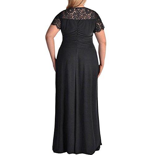 Noche Mujer para ishine Vestido Negro PYwz54tgq