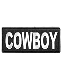 COWBOY Club MC Motorcycle Embroidered Quality Funny Biker Vest Patch PAT-2555