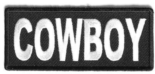COWBOY Club MC Motorcycle Embroidered Quality Funny Biker Vest Patch PAT-2555 heygidday
