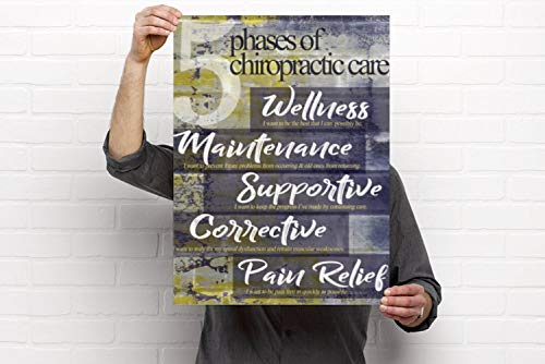 - Clinic Artwork 5 Phases of Care - Chiropractic Anatomy Artwork, 18'x24' Poster, Chiropractic Art and Clinic Decor