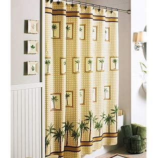 Better Homes and Gardens Palm Decorative Bath Collection - Shower Curtain from Better Homes