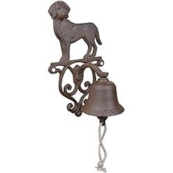Esschert Design DB83 Rustic Cast Iron Doorbell Dog